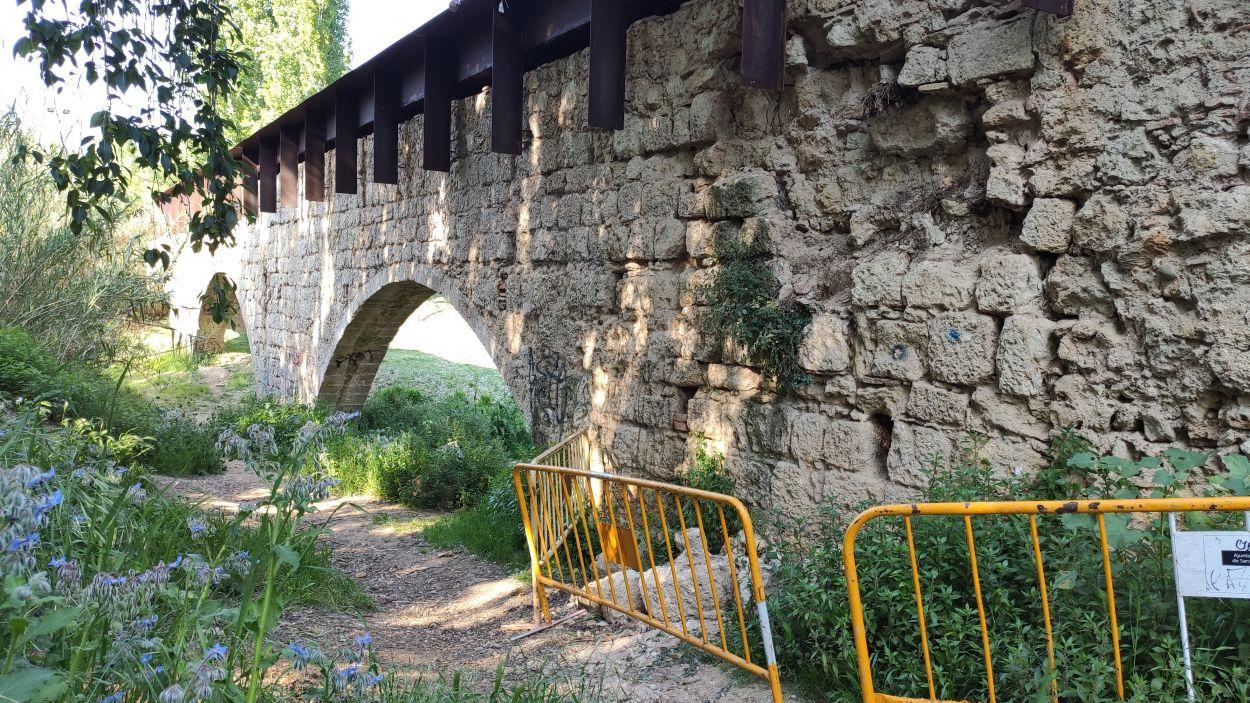 El pont de Can Vernet, aquest dimecres / Foto: Cugat Mèdia