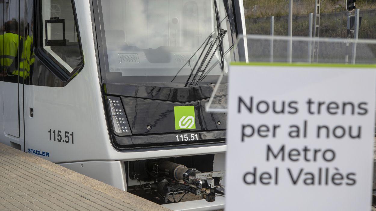 El nou comboi de FGC de la línia del Vallès, que dona servei a Sant Cugat / Foto: FGC