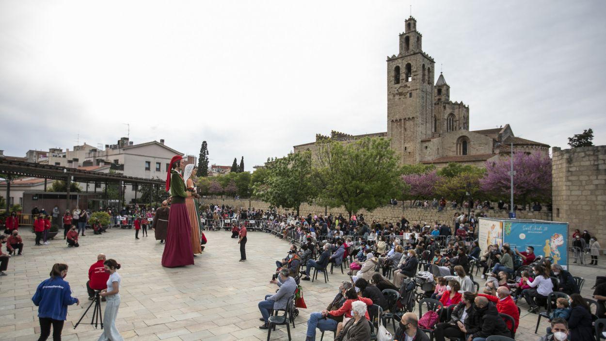 Actuació a Sant Cugat amb motiu de Sant Jordi / Foto: Lali Puig - Ajuntament
