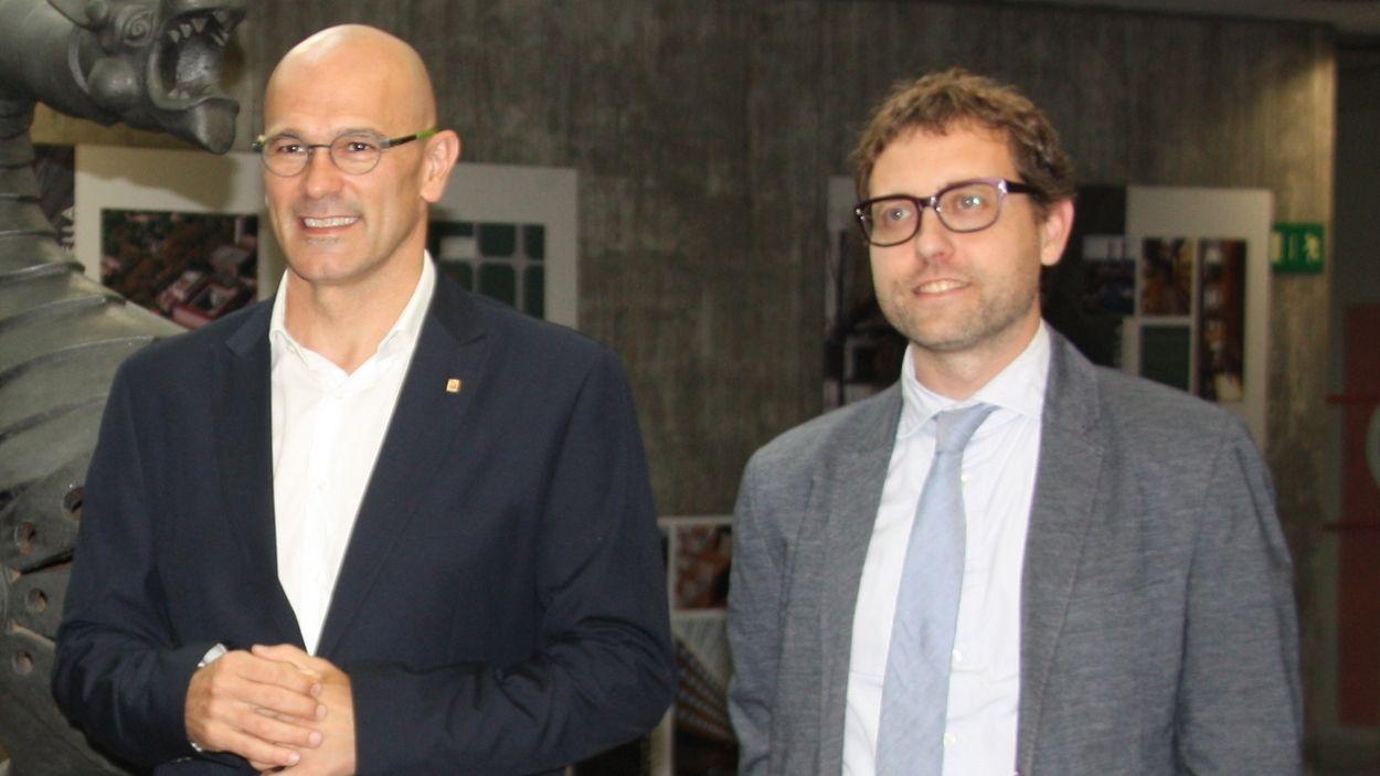 Raül Romeva i Albert Royo, en una imatge d'arxiu de 2017 / Foto: ACN