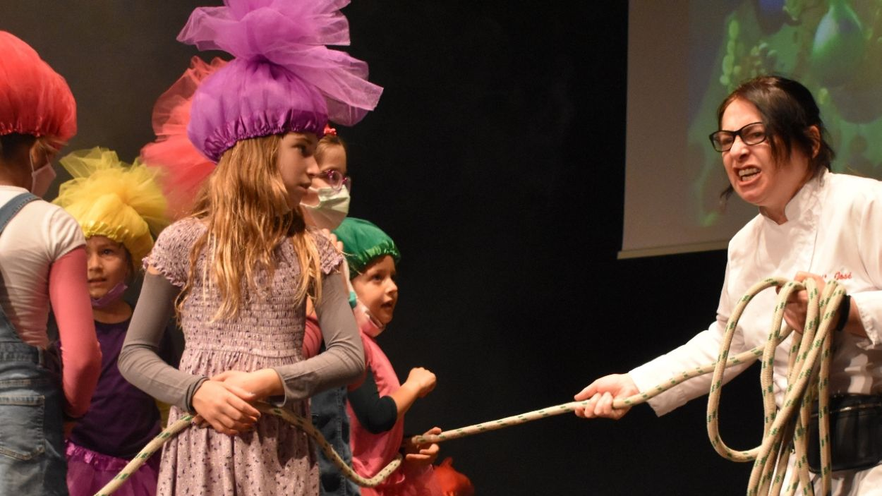 Imatge de l'espectacle Trolls, del grup d'Infantil del Teatre Musical Aula de So / Foto: Aula de So
