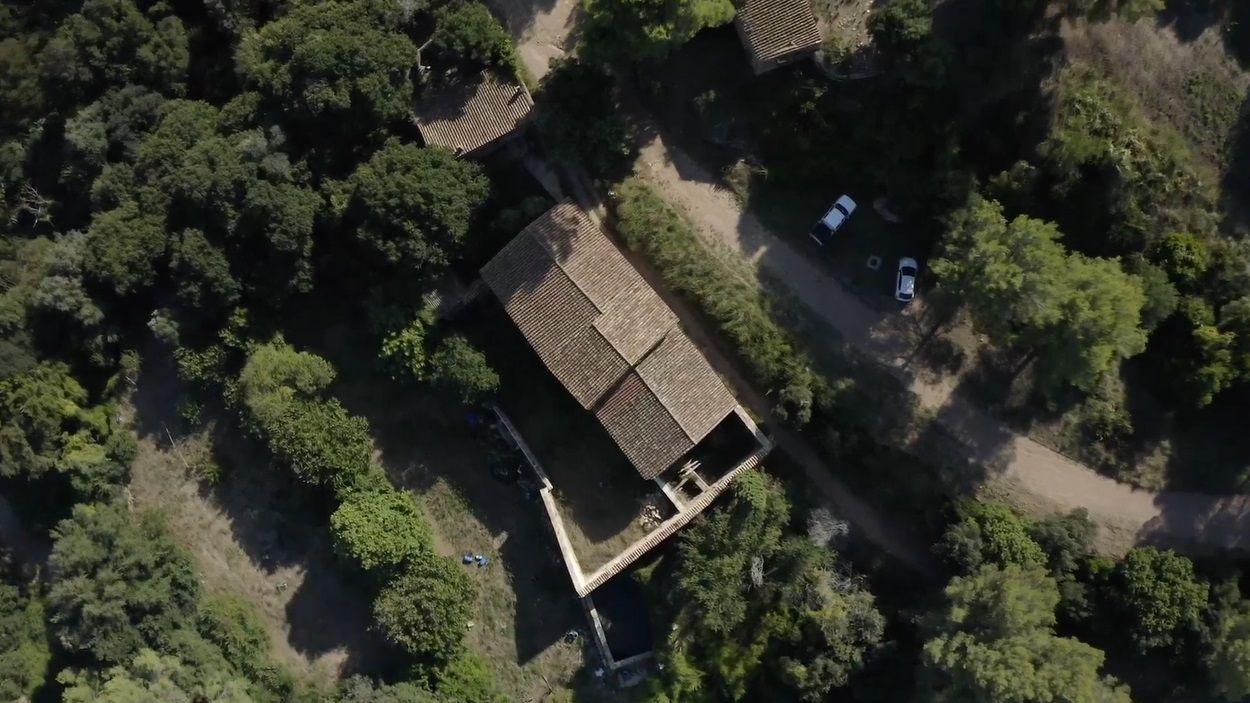 Imatge aèria de la Masia Can Ferriol / Foto: Captura extreta del vídeo de YouTube del canal La Rural Collserola