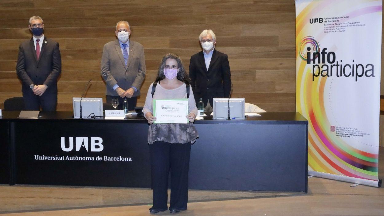 L'Ajuntament rep dos premis relacionats amb les bones pràctiques i la transparència
