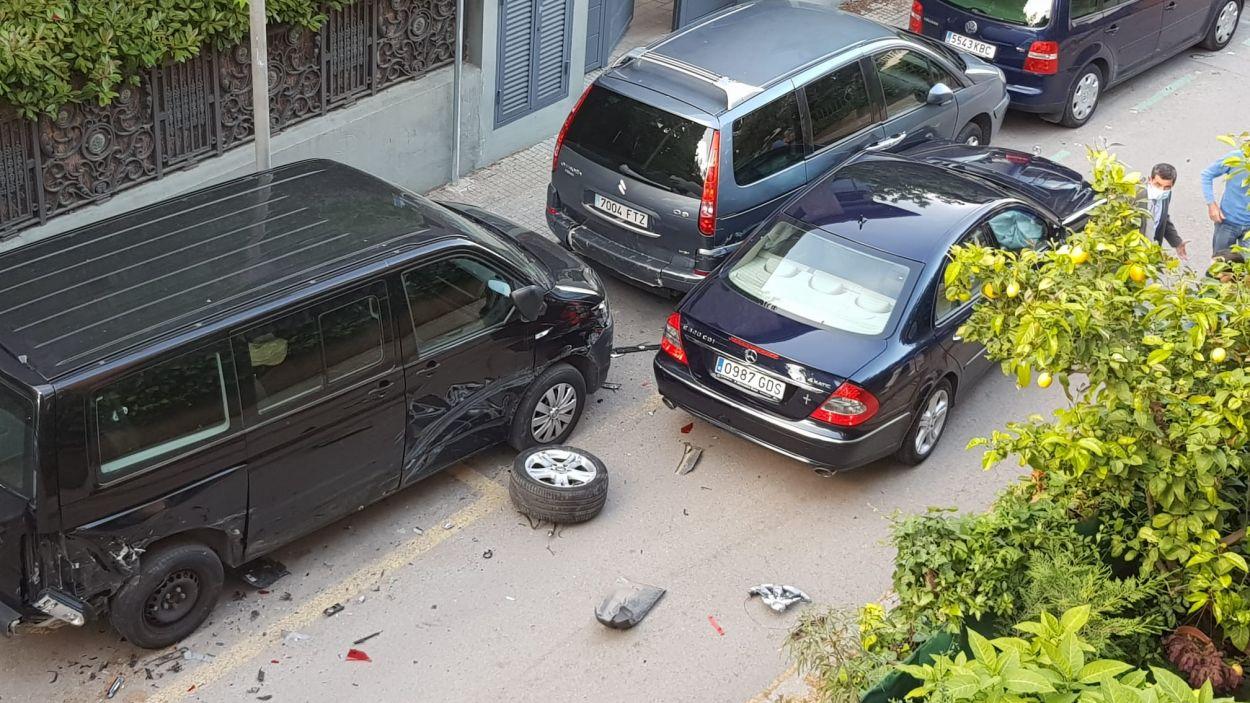 Imatge de l'accident / Foto: Cedida
