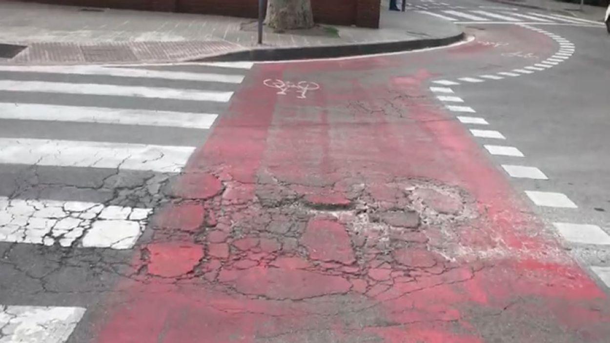 Imatge del carril bici de l'avinguda de Gràcia / Foto: Maria José Galofre