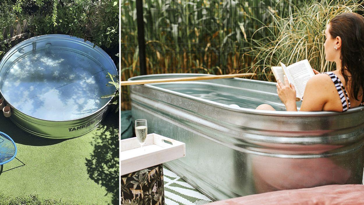Piscines d'acer galvnitzat de l'empresa Pool&Tina / Foto: Pool&Tina