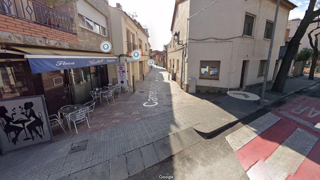 Tallat l'accés al carrer de Sant Domènec des del passeig de Sant Magí / Foto: Google Maps
