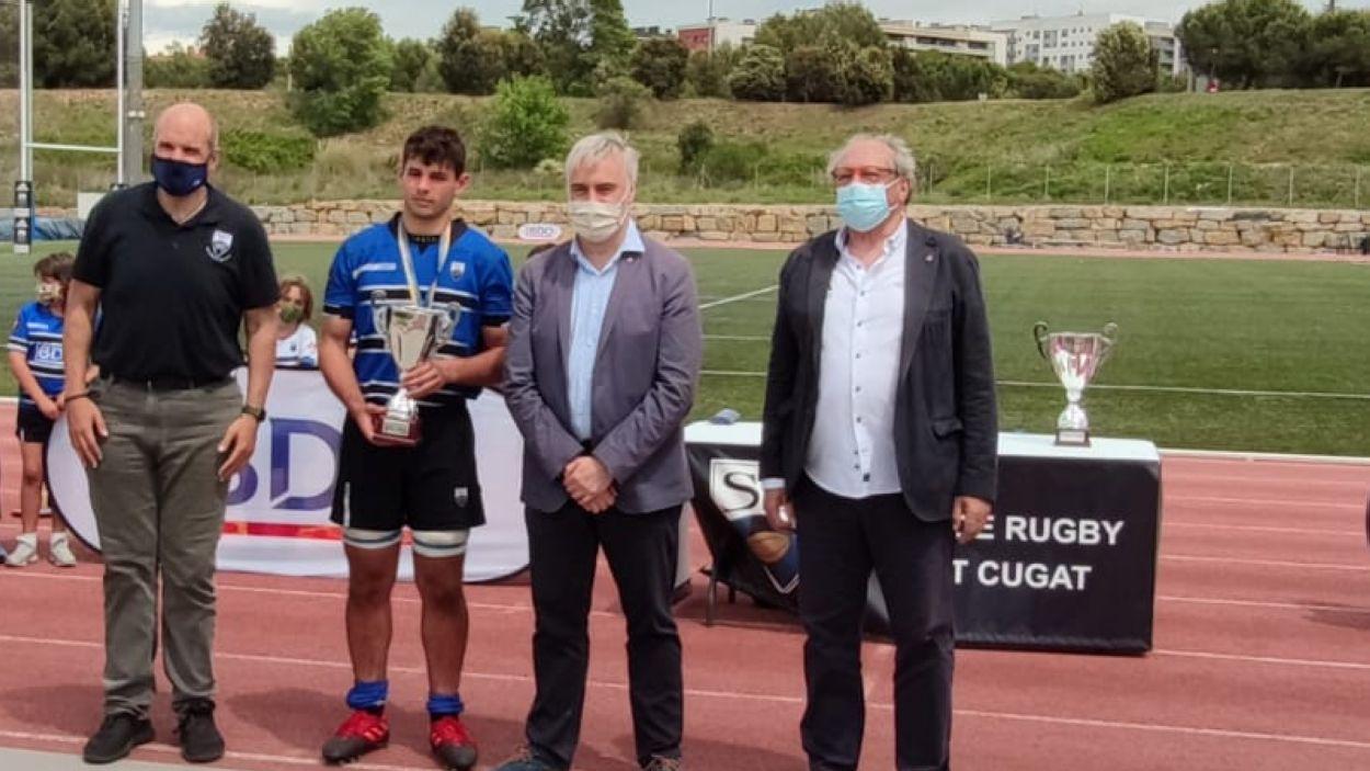 El Rugby Sant Cugat sub 18, subcampió estatal / Foto: Cugat Mèdia