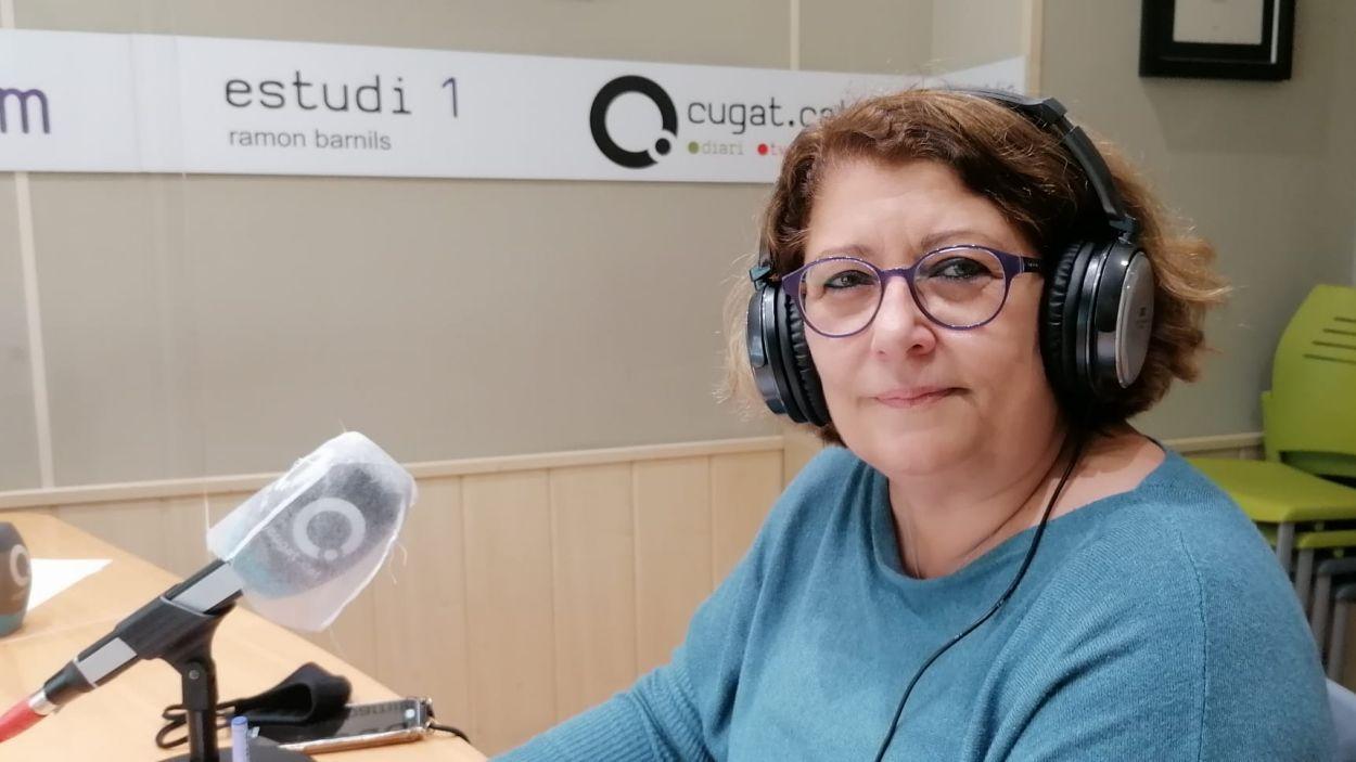 Pilar Gorina, regidora de Memòria Històrica / Foto: Cugat Mèdia