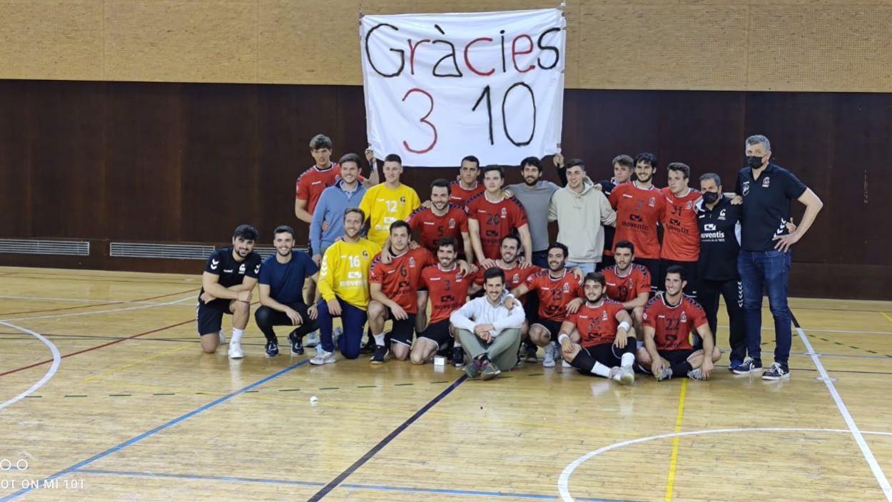 L'Handbol Sant Cugat assoleix una històrica tercera posició / Foto: Cugat Mèdia