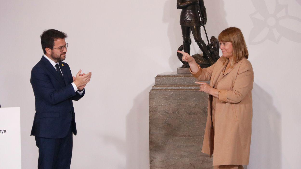 Natàlia Garriga: la mà dreta d'Aragonès es posa per primer cop sota els focus