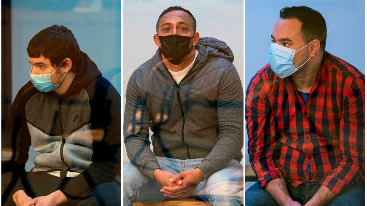 Els tres condemnats pels atemptats del 17-A, Mohamed Houli Chemlal, Driss Oukabir i Said Ben Iazza / Foto: ACN