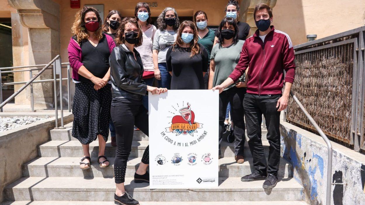 Representants polítiques i tècniques responsables de la campanya / Foto: Lali Puig (Ajuntament de Sant Cugat)