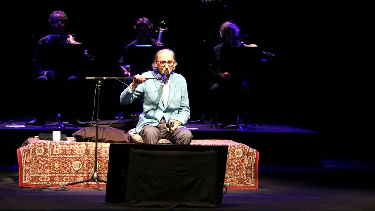 Franco Battiato durant un concert el 2017 a l'Auditori del Parc del Castell Peralada / Foto: ACN