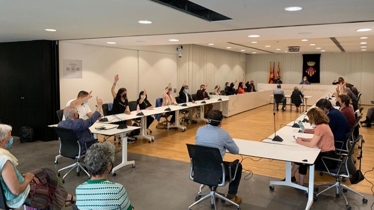 Imatge d'arxiu del ple municipal / Foto: Cugat Mèdia