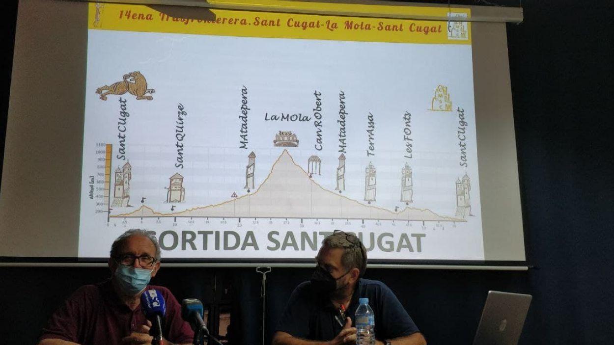 Silvano Bendinelli i Cesc Mullerat, a la seu del Club Muntanyenc Sant Cugat / Foto: Cugat Mèdia