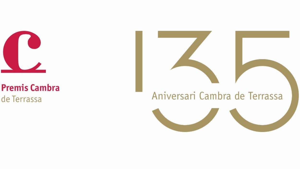 Imatge del logo del 135è aniversari dels Premis Cambra de Terrassa / Imatge: Cambra de Terrassa