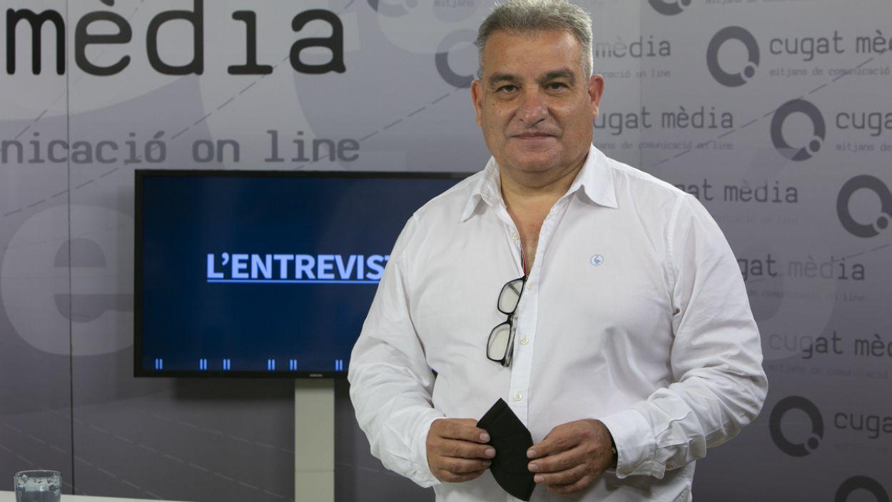Joan Franquesa al plató de Cugat Mèdia / Foto: Cugat Mèdia (Lluís Llebot)