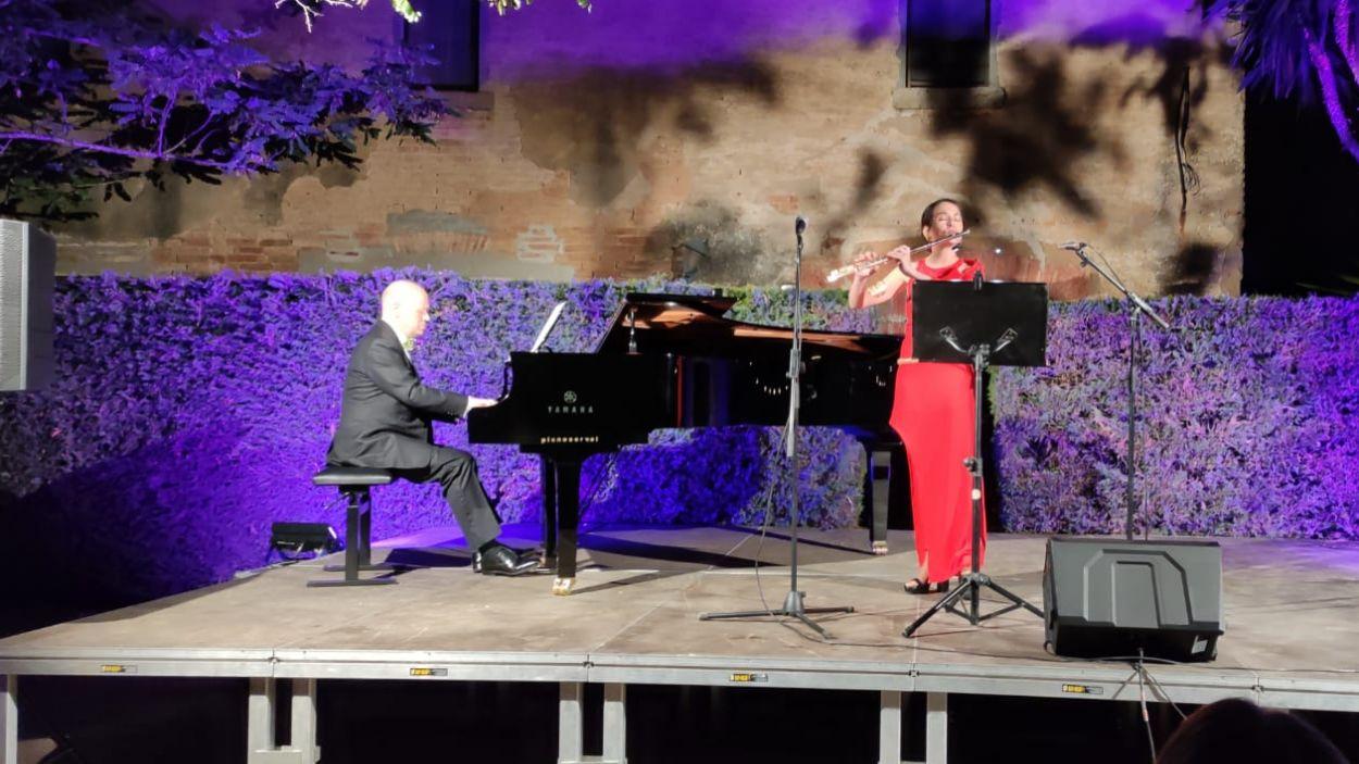 Elisabet Franch i Albert Guinovart durant el concert / Foto: Cugat Mèdia
