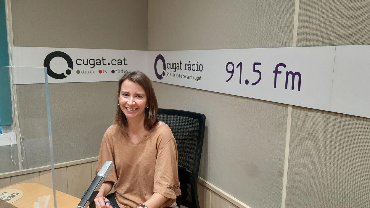 Maria Fabre, directora de Pou d'Art al podcast d'empresa de Ràdio St Cugat i la Cambra de Terrassa/Foto:Cugat Mèdia