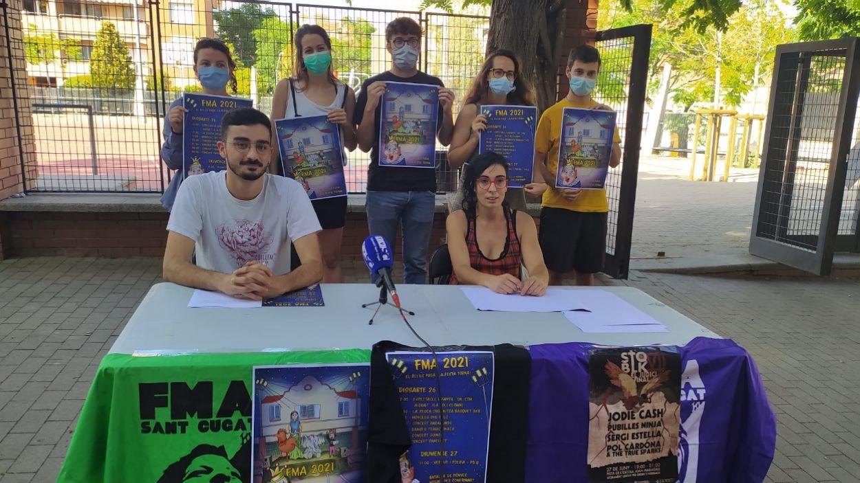 Membres de la comissió de la FMA i de Sotasons a la roda de premsa / Foto: Cugat Mèdia