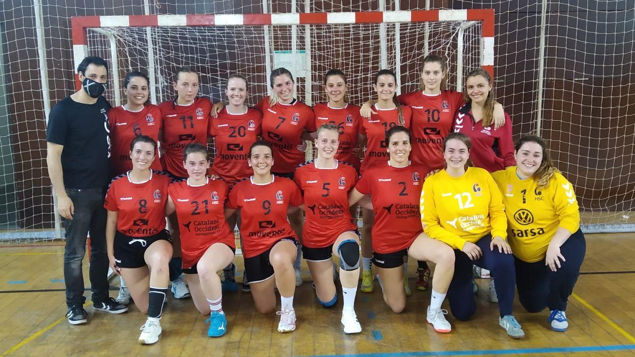 Plantilla de l'equip femení de l'Handbol Sant Cugat / Foto: Handbol Sant Cugat