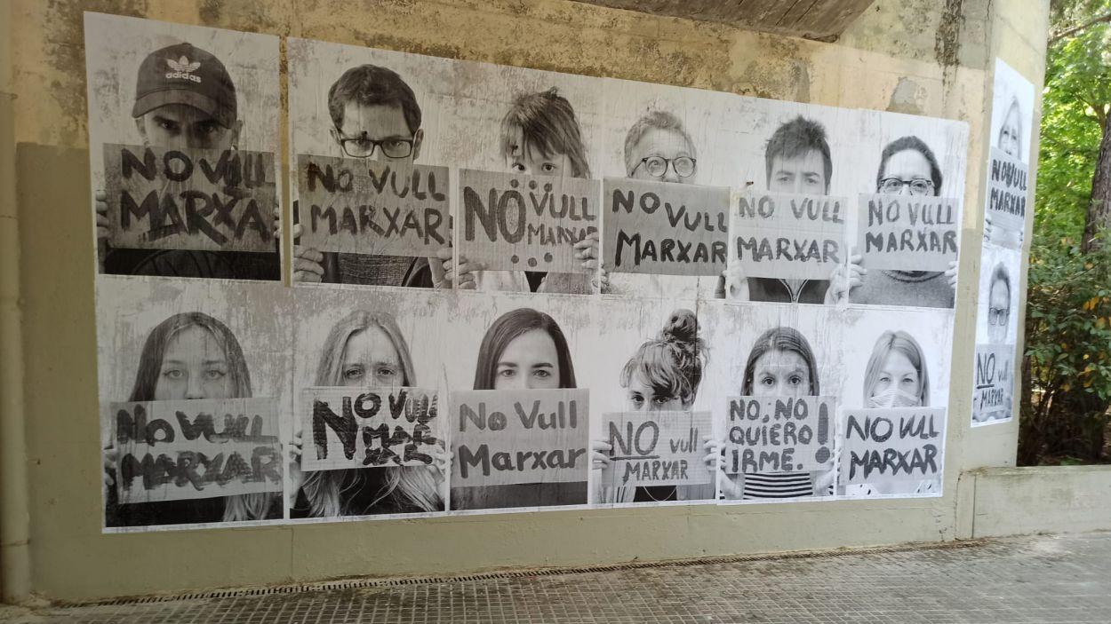 Imatge del mural, que va durar menys de 12 hores / Foto: Cedida a Cugat Mèdia