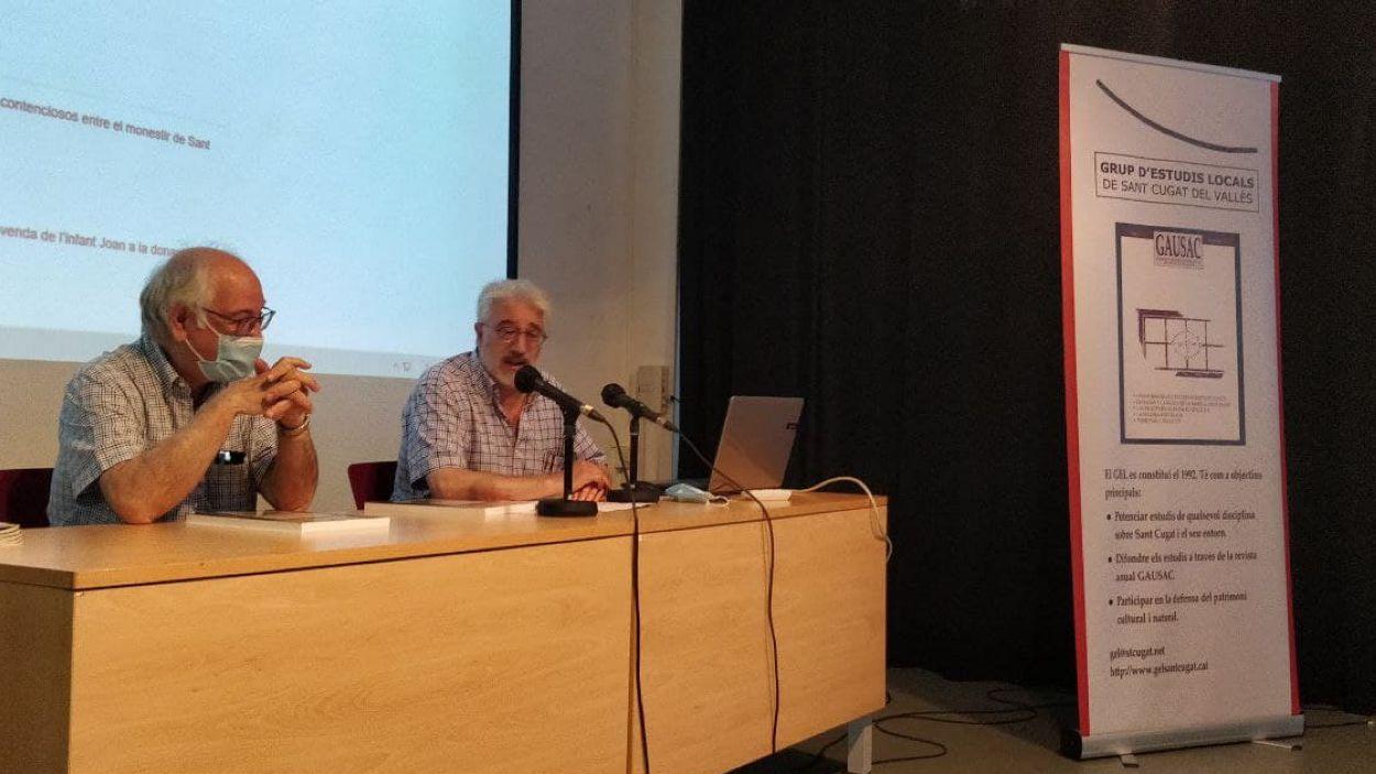Els historiadors Domènec Miquel i Jordi Casas / Foto: Cugat Mèdia