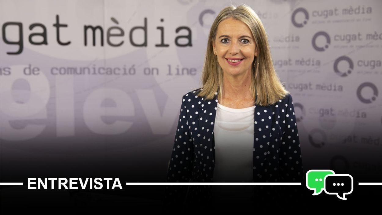 Mireia Ingla al plató de Cugat Mèdia / Foto: Lluís Llebot