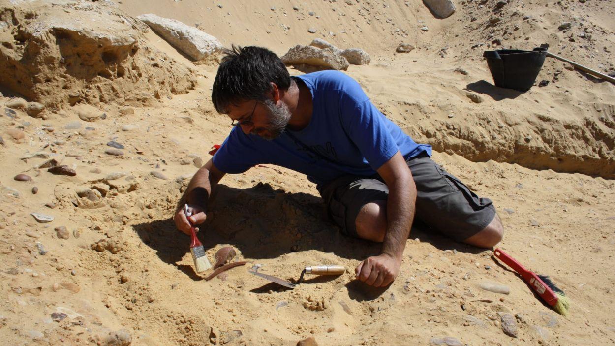 L'egiptòleg valldoreixenc Marc Orriols, al jaciment d'Egipte / Foto: Cedida
