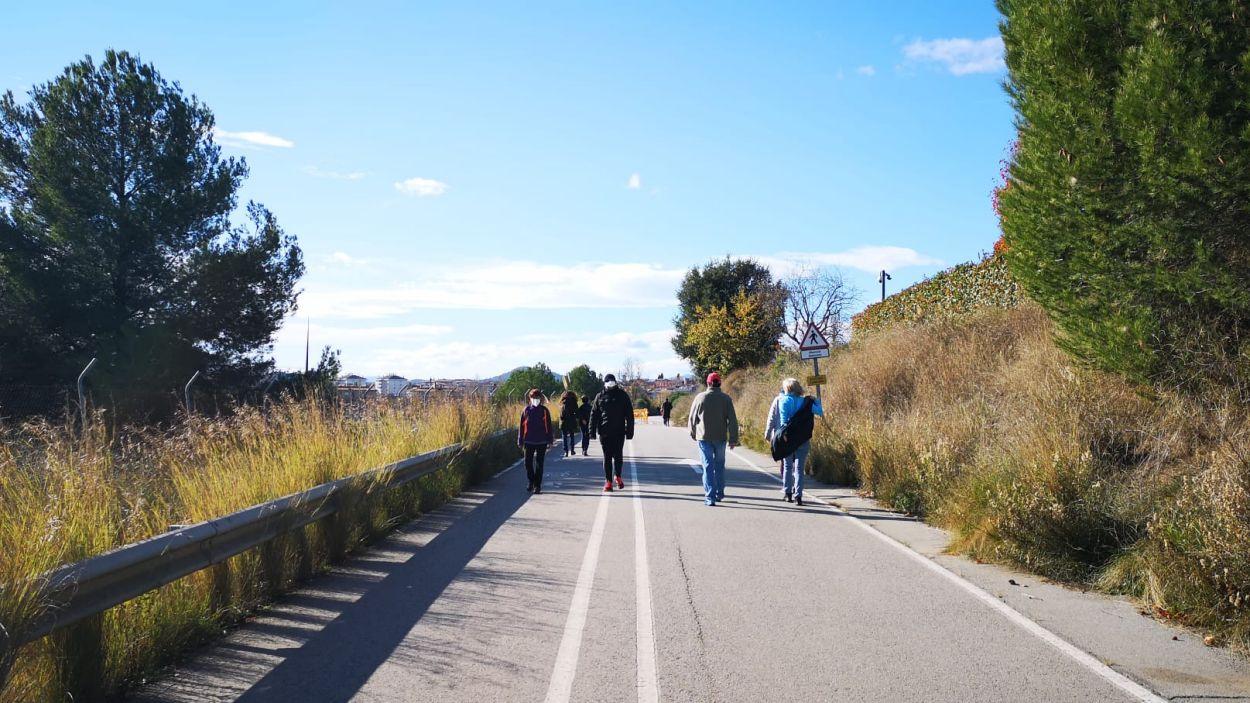 Els vianants han aprofitat les obres per usar el camí / Foto: Ajuntament de Sant Cugat