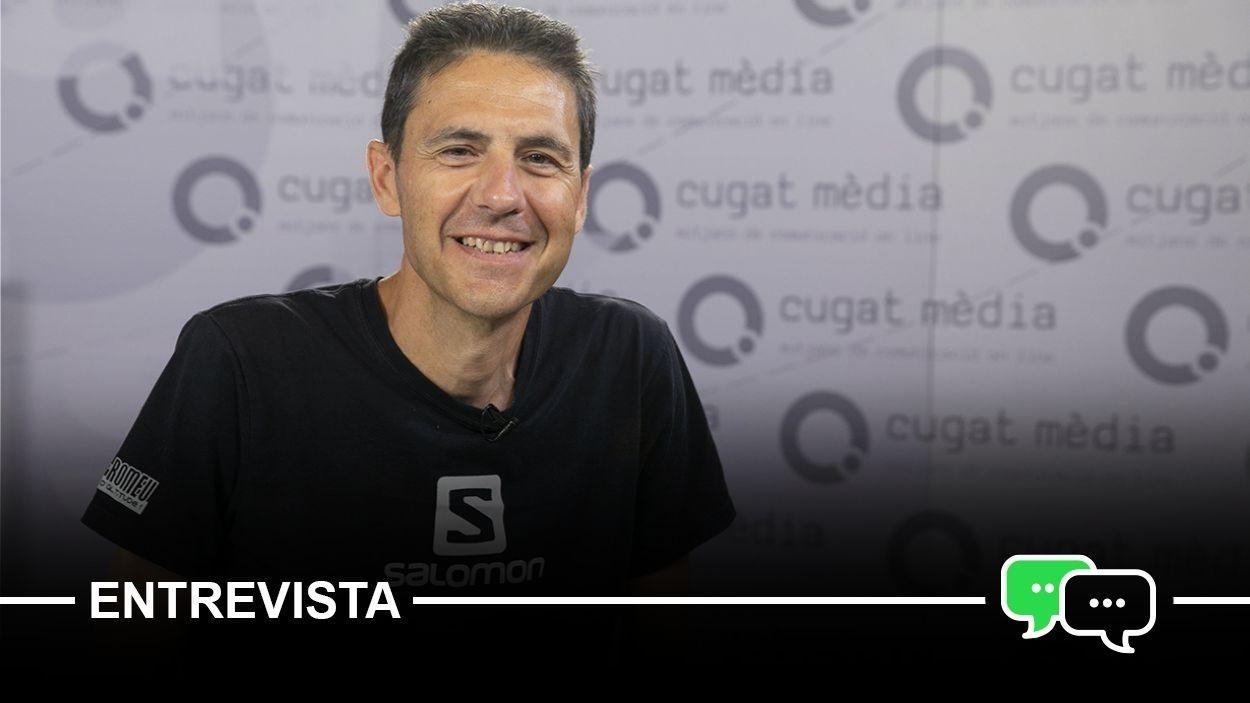 Oriol Sanz al plató de Cugat Mèdia / Foto: Cugat Mèdia