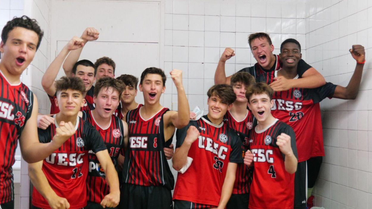 Els integrants del cadet de la Unió Esportiva Sant Cugat / Foto: Oriol Llunell
