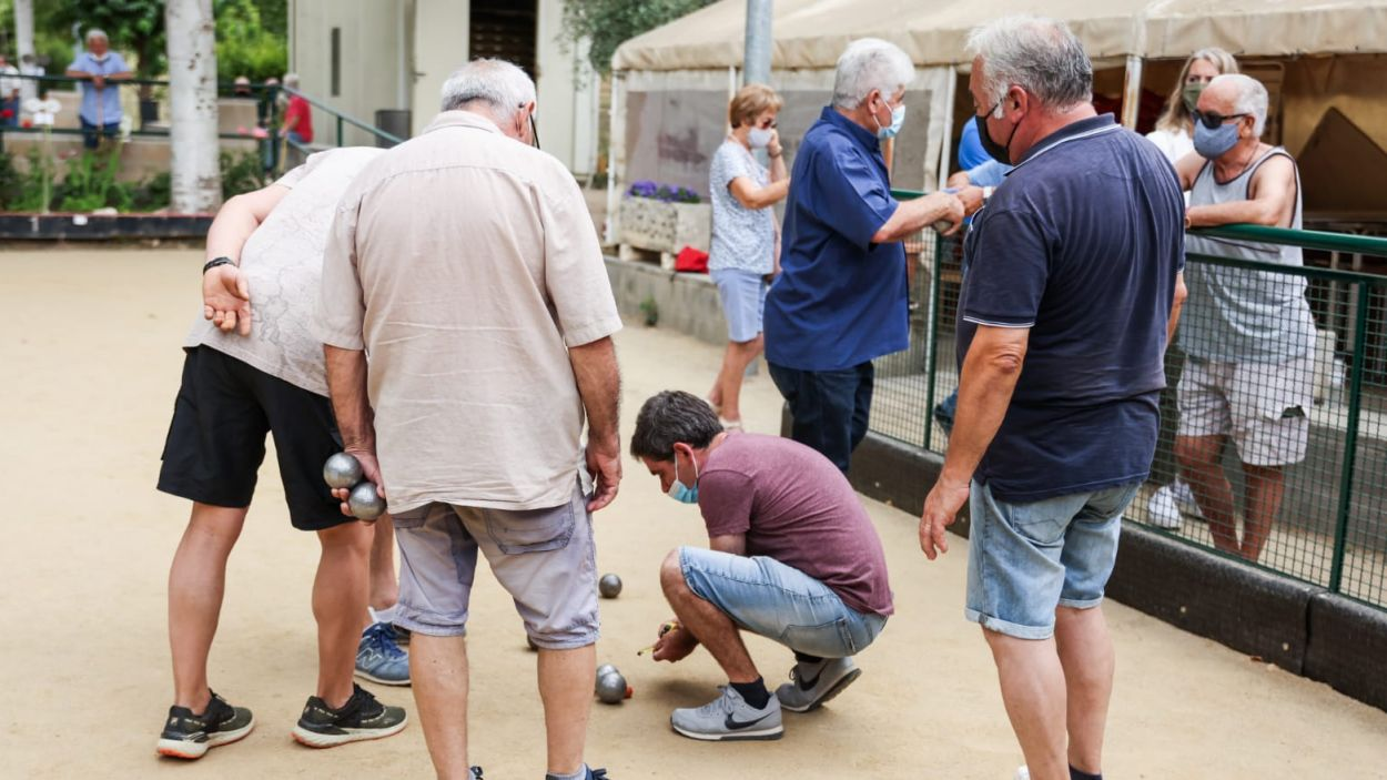 Imatge del torneig de Festa Major de petanca / Foto: Lali Puig (Ajuntament)