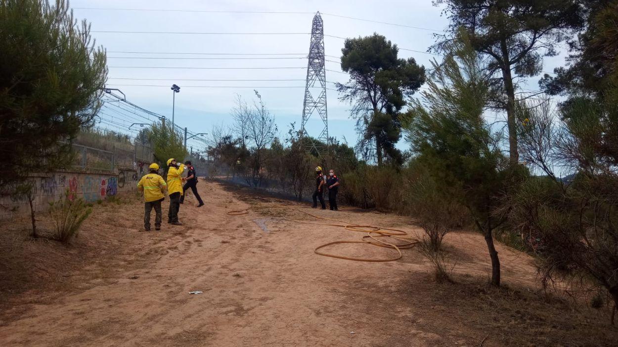 Segon incendi a l'estany dels Alous en menys d'una setmana / Foto: Protecció Civil