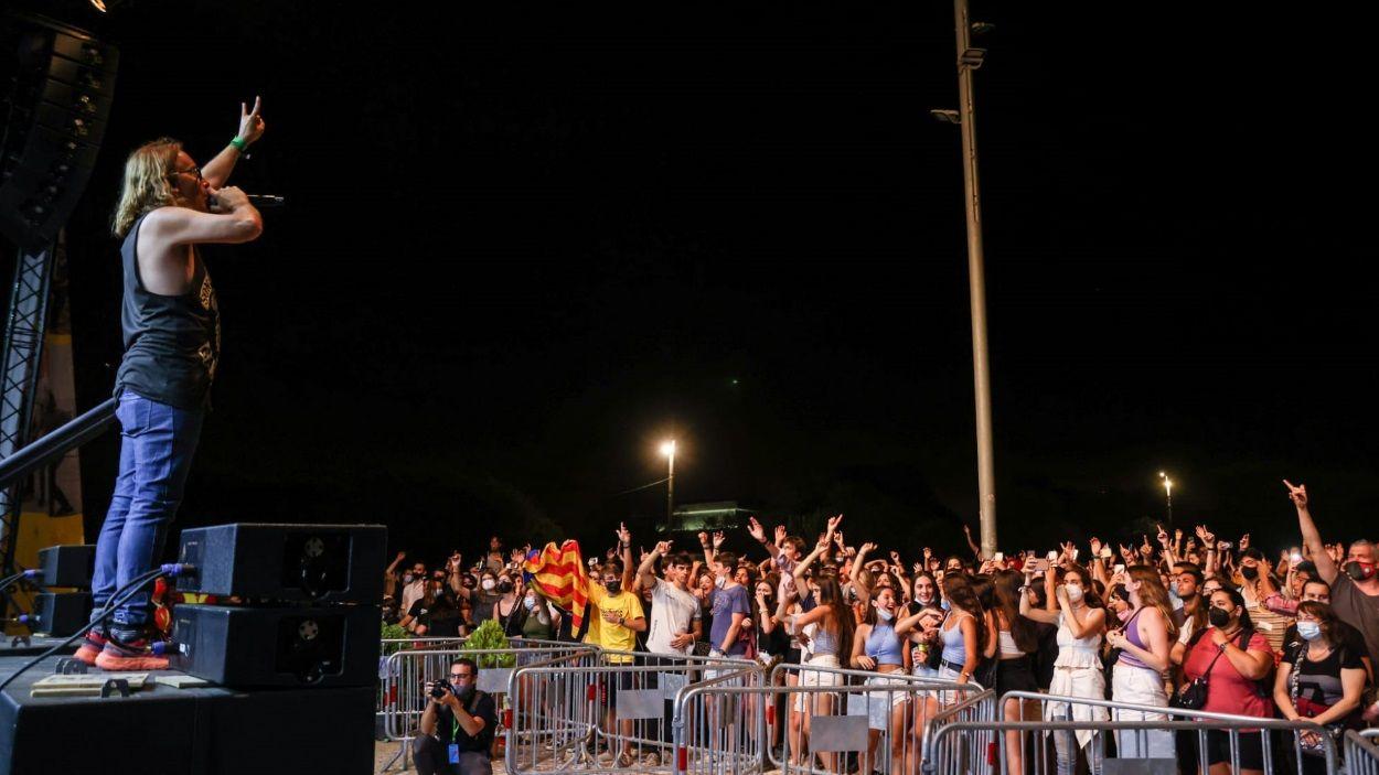 Moment del concert de Buhos a la Festa Major de Sant Cugat / Foto: Cugat Mèdia