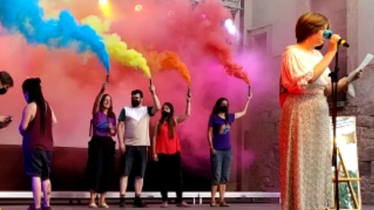 L'assemblea LGTBI de Sant Cugat va organitzar els actes del 28-J a la ciutat / Foto: Cugat Mèdia