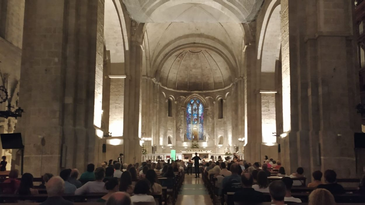 Concert de l'orquestra de l'Escola Fusió, al Monestir / Foto: Cugat Mèdia