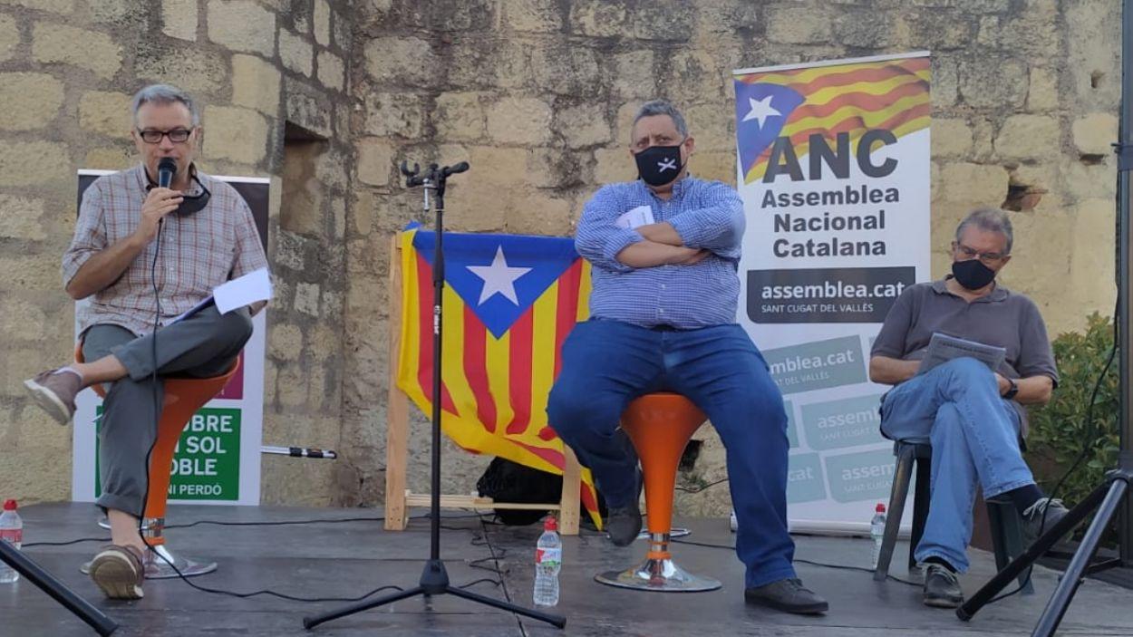 Josep Reyner i Jordi Roset durant la xerrada / Foto: Cugat Mèdia