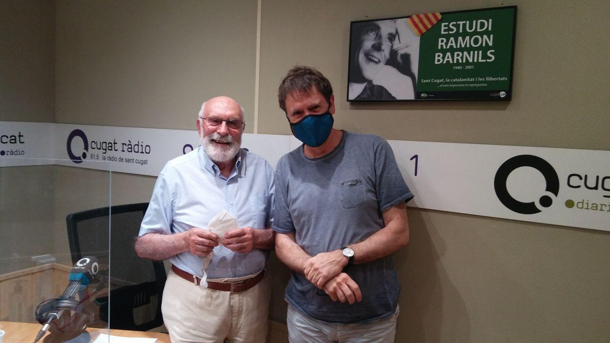 Eduard Jener i Xavier Blanch / Foto: Cugat Mèdia