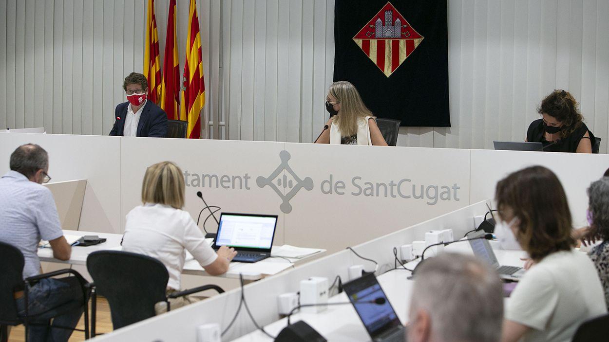 Imatge d'arxiu del ple municipal / Foto: Cugat Mèdia (Lluís Llebot)