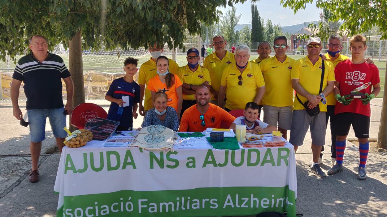 El Camp de futbol de la Penya Blaugrana de Sant Cugat ha acollit el llençament dels penals pel sorteig / Foto: Cugat Mèdia
