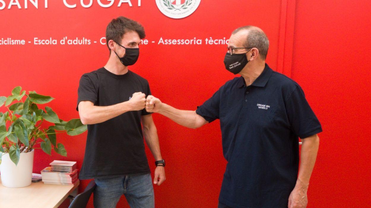D'esquerra a dreta, Ramón Sola i Oriol Cusó / Foto: Unió Ciclista Sant Cugat