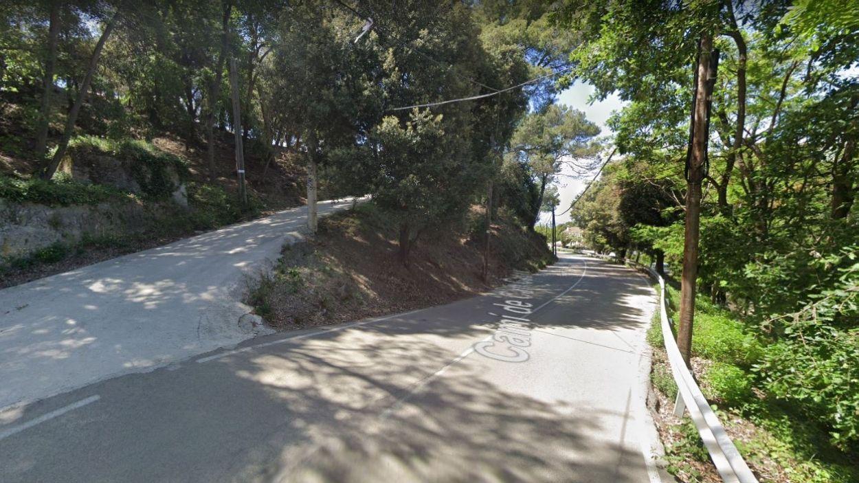 El camí de Can Cases és una de les portes d'accés a la centralitat de les Planes / Foto: Google Maps