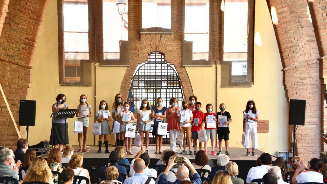 Part dels guanyadors del Premi de Narrativa Infantil de Sant Cugat / Foto: localpres