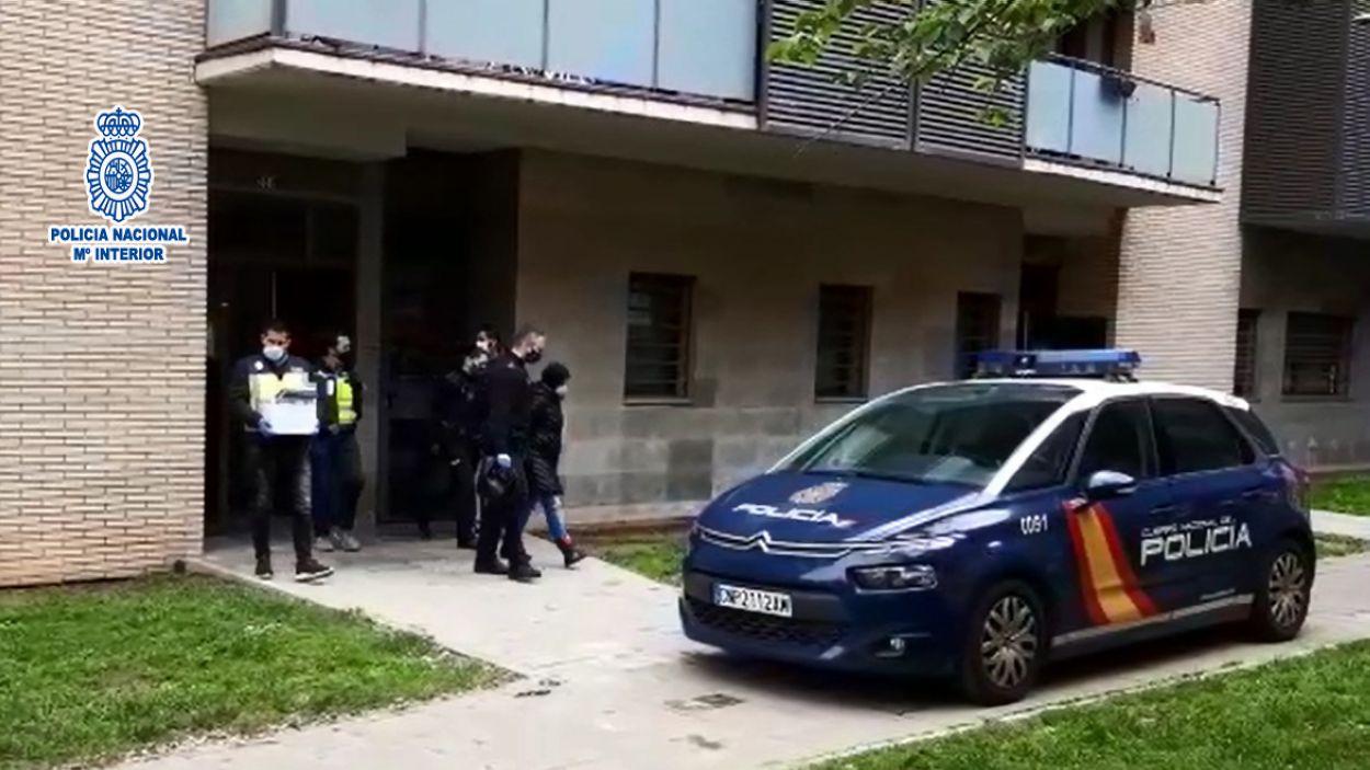 Moment de les detencions de la Policia Nacional / Foto: Policia Nacional