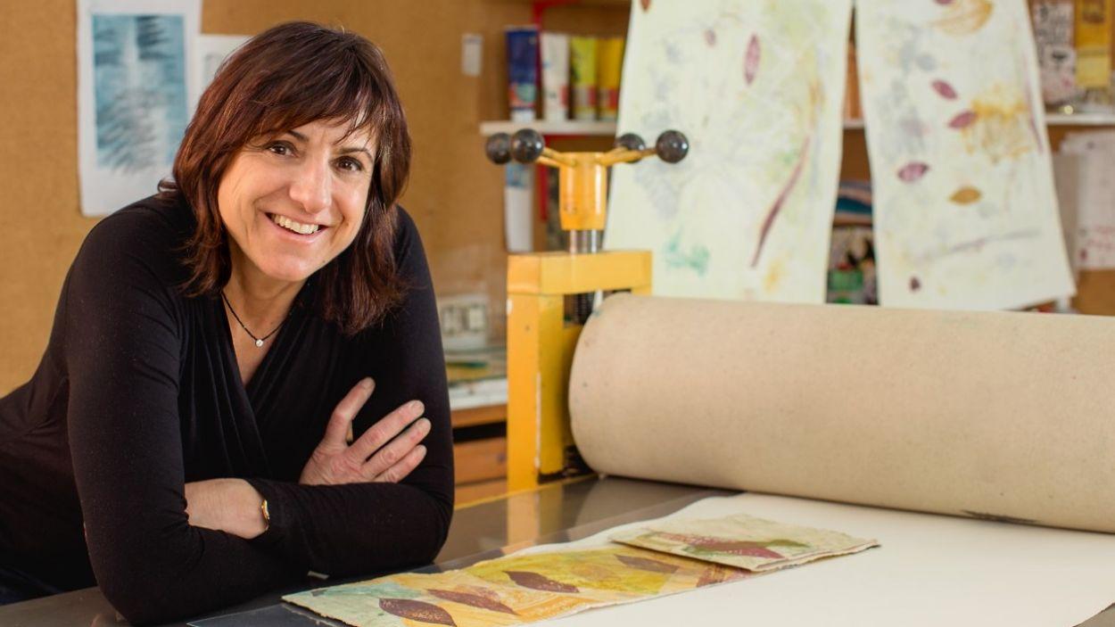 Lourdes Fisa forma part de la Biennal d'Art Contemporani a Sant Cugat / Foto: Mercè Rial