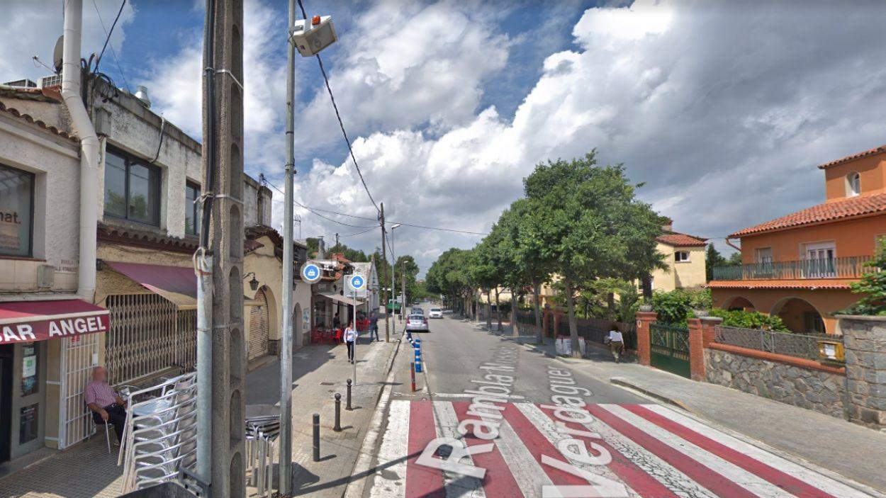 Imatge del tram que està previst reurbanitzar / Foto: Google Maps