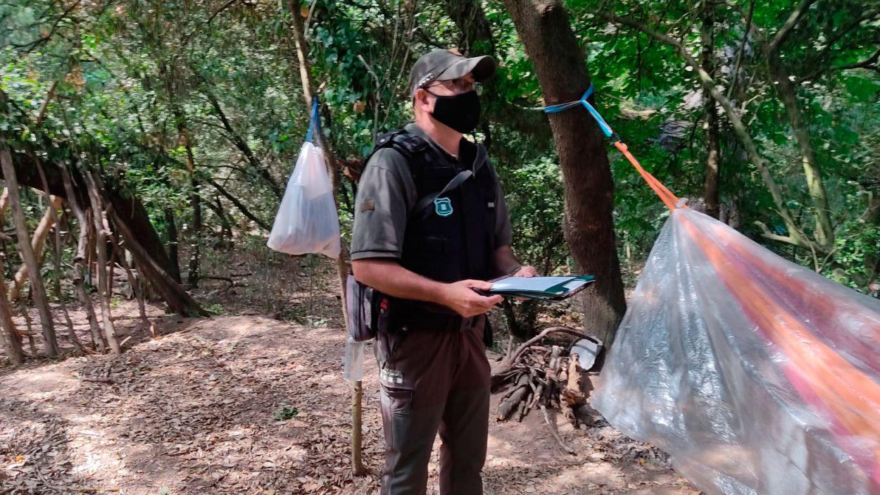 Agents Rurals en el moment de la denúncia / Foto: Agents Rurals