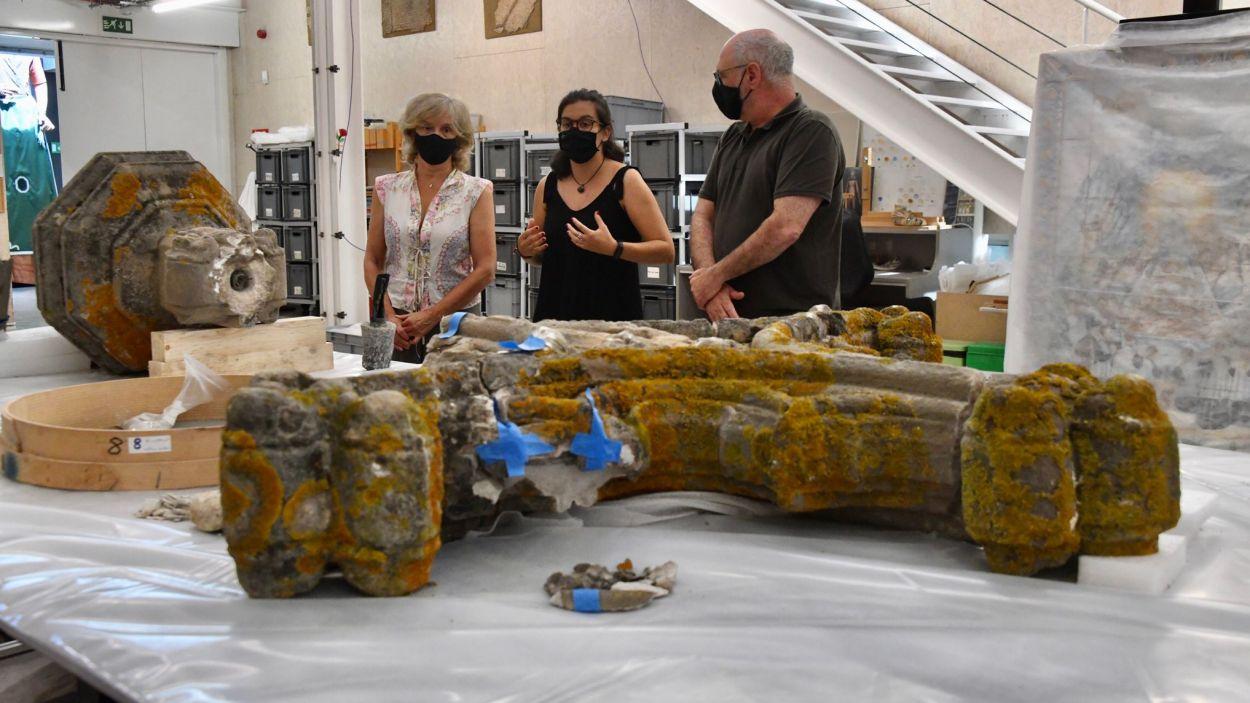 La Creu del Terme està al Centre de Restauració de Béns Mobles de Catalunya / Foto: Cugat Mèdia